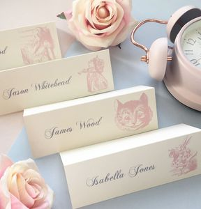 Wonderland Alice Name Place Card