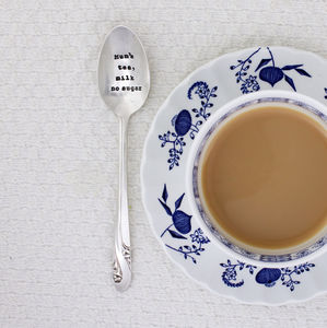 Personalised Silver Plated Vintage Tea Spoon - kitchen