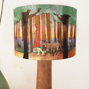 Red Riding Hood Lampshade - children's lighting