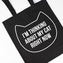 'Thinking About My Cat' Tote Bag