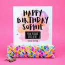 Personalised Happy Birthday Pastel Scratchcard