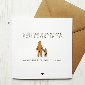 I'll Look Up To You Father's Day Gold Foil Card