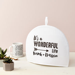 Personalised It's A Wonderful Life Tea Cosy
