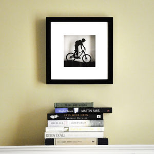 Framed Paper Cut Mountain Bike Artwork