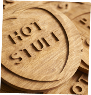 Solid Oak 'Hot Stuff' Trivet bySquarePear Furniture