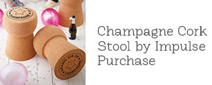 Champagne Cork Stool by Impulse Purchase