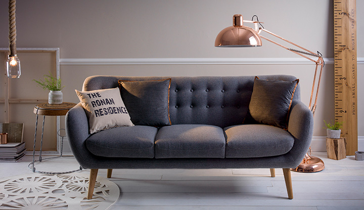 quirky neutral living room | notonthehighstreet.com