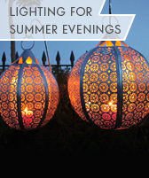 lighting for summer evenings