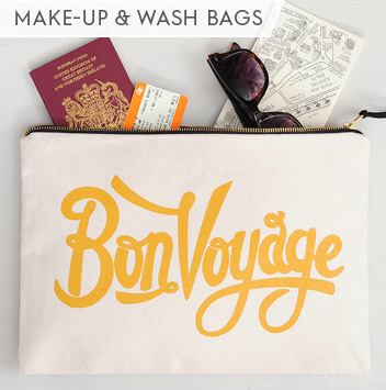 make up and wash bags