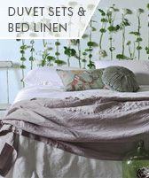 duvet sets and bed linen