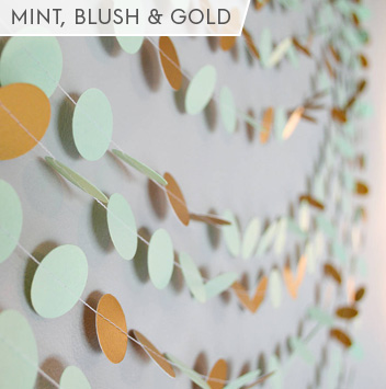 mint blush and gold