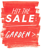 hit the sale: garden