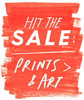 hit the sale: prints & art