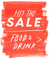 hit the sale: food & drink