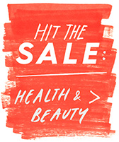 hit the sale: health & beauty