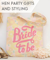 hen party gifts and styling