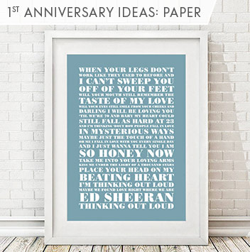 1st anniversary gift ideas: paper