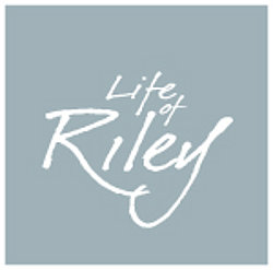 Life of Riley grey and white classic design logo.