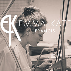 Emma-Kate Francis woring at her studio jewellers bench creating handmade silver jewellery