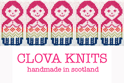 Clova knits handmade in Scotland