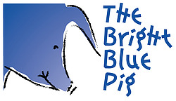 The Bright Blue Pig adds warmth and love to every home.