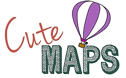 cute maps, bespoke maps, custom maps, wedding maps