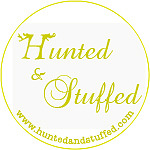Upcycled vintage cushions by Hunted and Stuffed logo