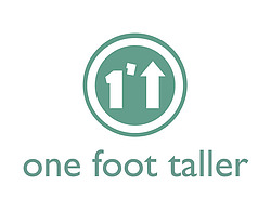 one foot taller logo green