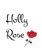 Holly Rose logo with a single red rose