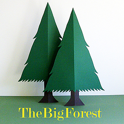 Two papercut trees and business name