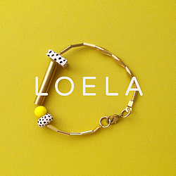 bracelet on yellow background