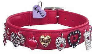 """Hearts & Flowers"" Dog Collars - dog collars"