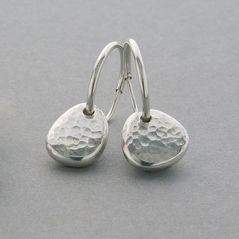 Ripple Pebble Hoop Earrings