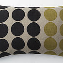 "CIRCLES BLACK/LIME 16""X24"" £49"