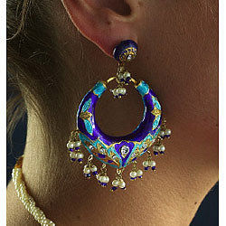 Large Gypsy Hoop Earrings - earrings