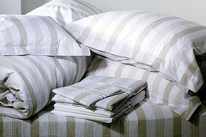 Pavillion Bed Linen: Fitted Sheet - bed, bath & table linen