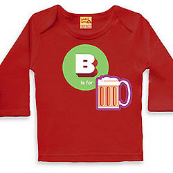 B Is For Beer T Shirt For Baby Boys And Girls - t-shirts & tops
