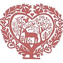 Noolibird Folk Heart Stamp