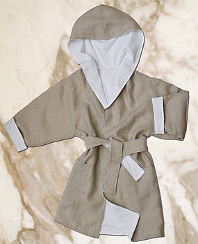 CHILD'S TWO-SIDED DRESSING GOWN