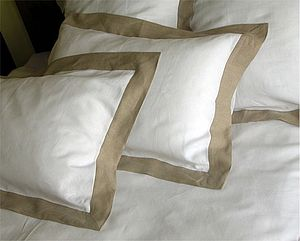 Pure Linen Oxford Pillow Case - bedding & accessories