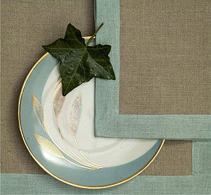 Duck Egg Table Linen Collection - placemats & coasters