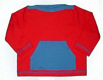 Boys Contrast Pocket Top