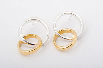 Unity Double Circle Stud Earrings