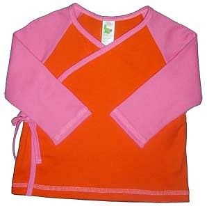 Baby Girls Contrast Jersey Wrap Top