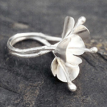 Snow flowers Ring