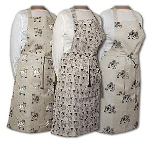 JOLLY ANIMALS APRON & TEA TOWEL SET - aprons