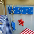 spotty peg rack_royal blue