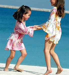 Girl's Butterfly Kaftan - swimwear