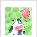 Party Animal Cow card