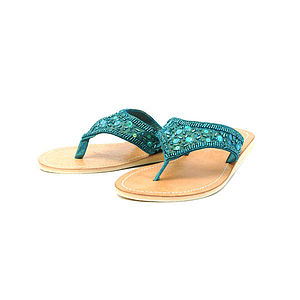 Sequin Flip Flops - women's fashion